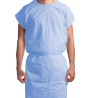 Exam Gown 3 ply blue