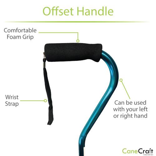 CaneCraft Offset Handle Cane