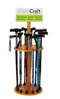 Round Wooden Display Cane Rack