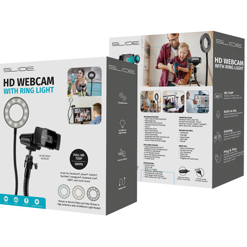 HD Webcam with Ring Light