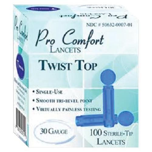 Pro Comfort Twist Top Lancets