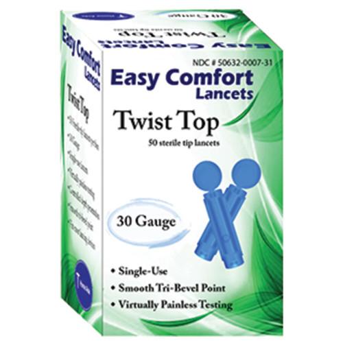 Easy Comfort Twist Top Lancets
